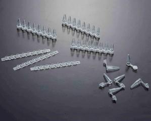 Microtubo PCR 200ul em Tiras de 08 Tubos com Tampa - Livre de Dnase, Rnase e Pirogênio